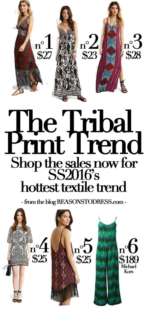 If You Love Africa - Batiq & Tribal Trends Are Here to Stay - Reasons to Dress
