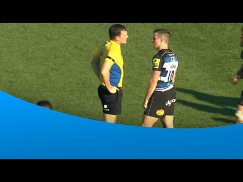 George Ford questions referee decision only to get a sarcastic response — Rugby videos of tackles, tries, funny incidents and more – Rugbydump.com