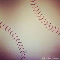 How to Make a Baseball Seams Stenciled Wall