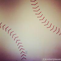 How to Make a Baseball Seams Stenciled Wall