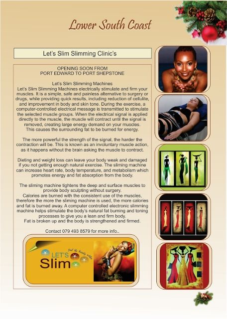 Let's Slim Slimming Clinic, Port Edward to Port Shepstone.