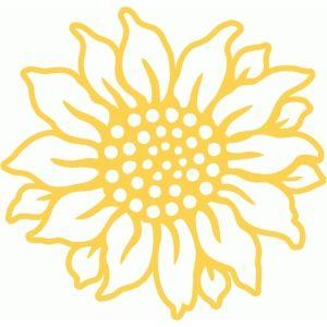 Silhouette Design Store - View Design #85690: sunflower filigree