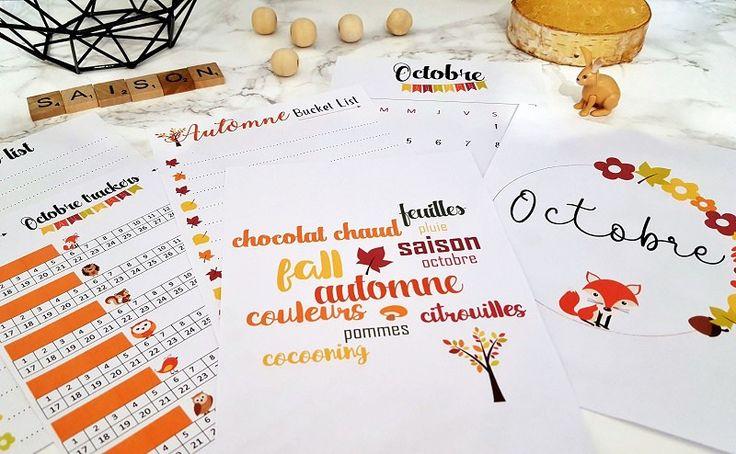 free printable automne spécial bullet journal