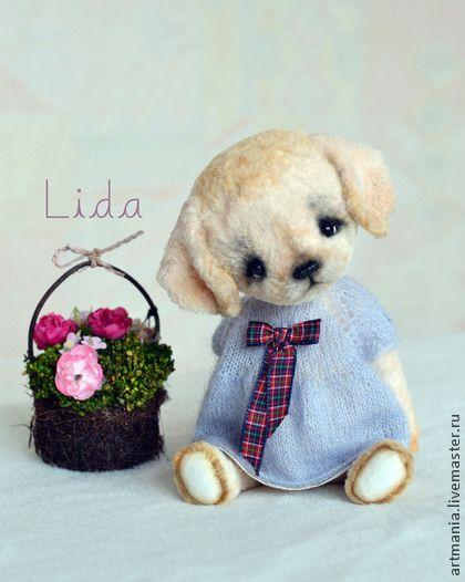 Лидочка) - бежевый,щенок,собачка,щенок тедди,щенок в платье,подарок на любой случай