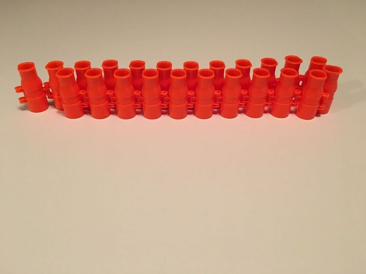 Buzz Bee Toys 23 Orange Round Ammo Belt Clip Strap Empty No Darts EUC #BuzzBeeToys #AmmoBelt
