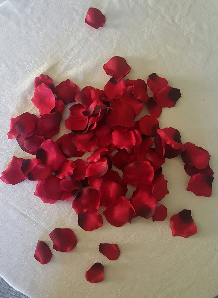 100 Pieces Artificial Dark Red Rose Petals * Click image for more details.