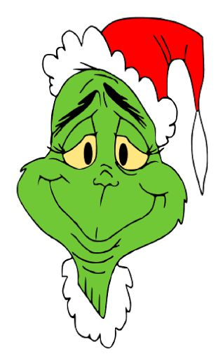 Displaying HOW THE GRINCH STOLE CHRISTMAS - Grinch with Santa hat.svg
