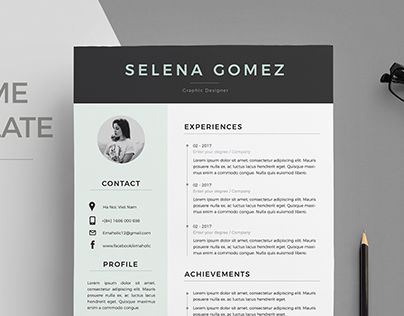 Best Cv  Resume Design By Em Images On   Resume