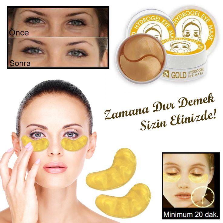 Göz Altı Kırışıklık ve Morluk Maskesi Gold Eye Mask (60 Adet)
