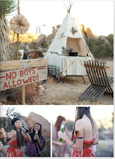 camping wedding theme | Live.Work.Design.: wedding: Camping Bachelorette Party