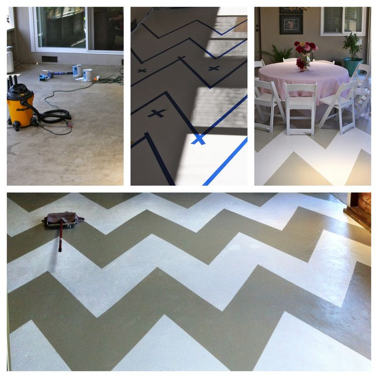 I painted my concrete patio floor backyard pinterest for What can i do to my concrete floor