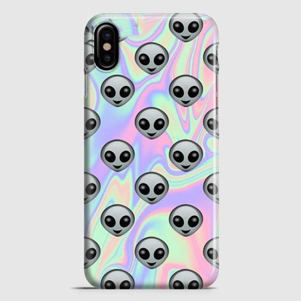 Tie Dye Alien Emoji iPhone X Case | casescraft