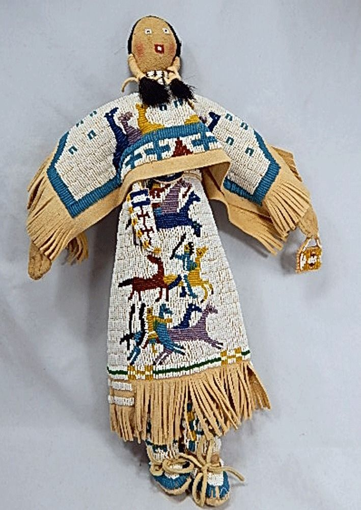 CHEYENNE INDIAN beaded doll - 17