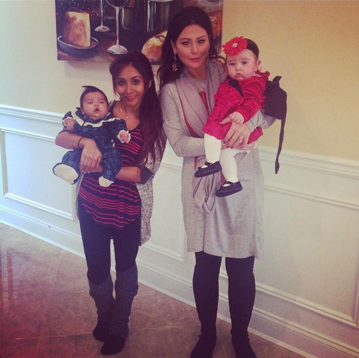 "From booze to babies, reality television stars Snooki and JWoww have been through it all together. Now with 3 children between the 2 of them, the new moms have their hands full! ""Merry Christmas from us! @jwoww,"" Snooki captioned this Instagram post on Dec. 25, 2014."