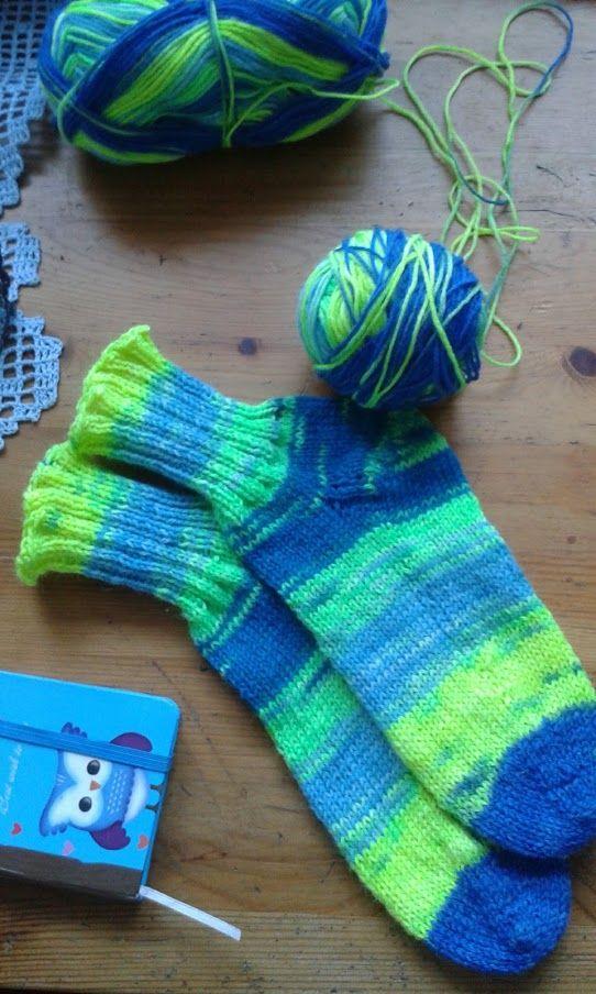 Ponožky pletené na kruhové jehlici