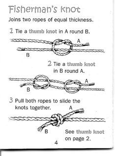 Image result for fisherman's knots instructions