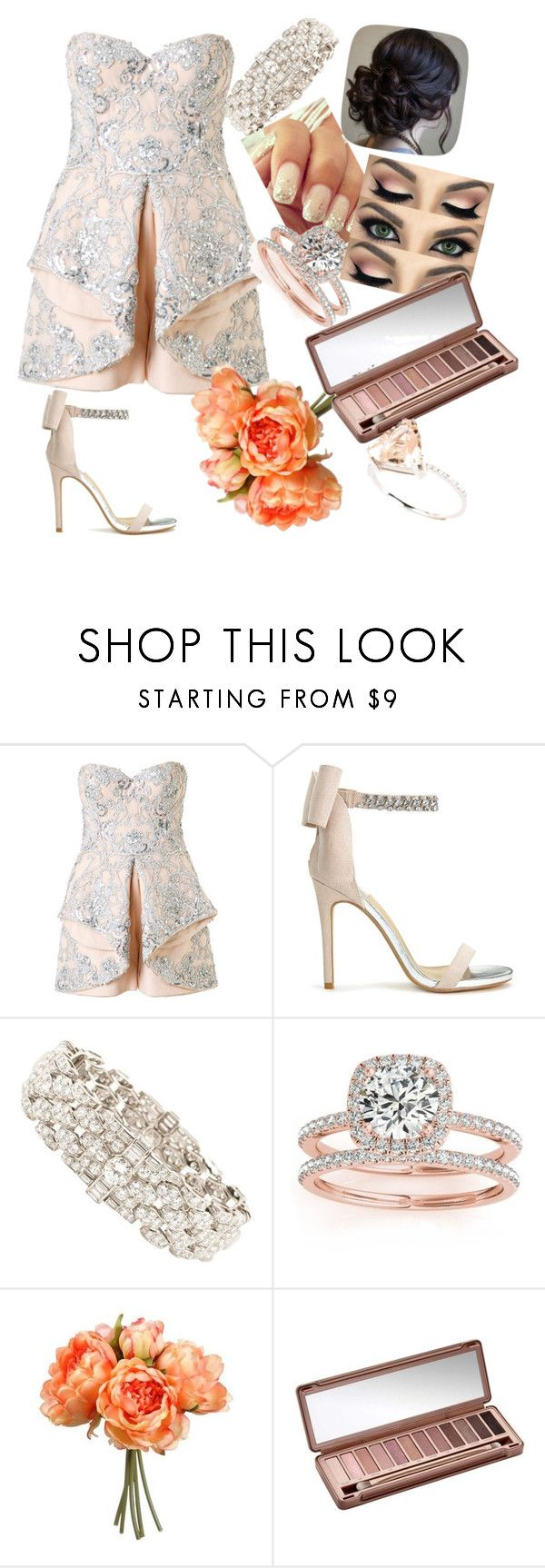 """wedding playsuit"" by fayehueston ❤ liked on Polyvore featuring Mikael D, Miss Selfridge, Bulgari, Allurez and Urban Decay"