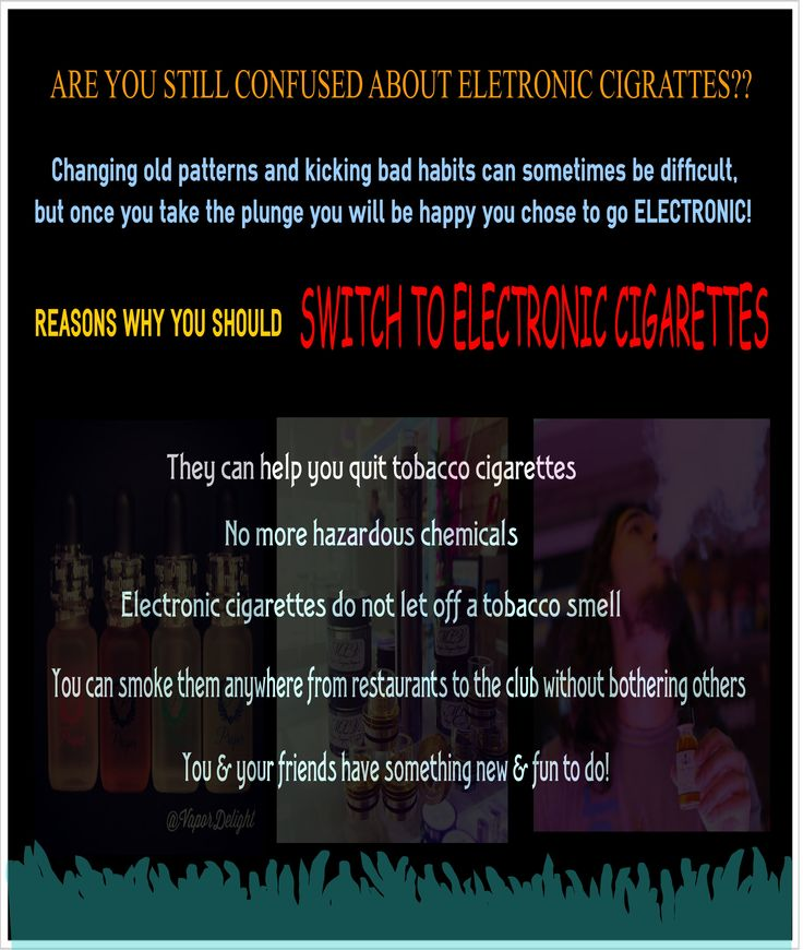 Vapor electronic cigarettes -- Are you confused about electronic cigarettes here we are providing 10 reasons why you should shift to electronic cigarettes. Source:  http://vapordelight.com/the-top-10-reasons-why-you-need-to-switch-to-electronic-cigarettes-today/