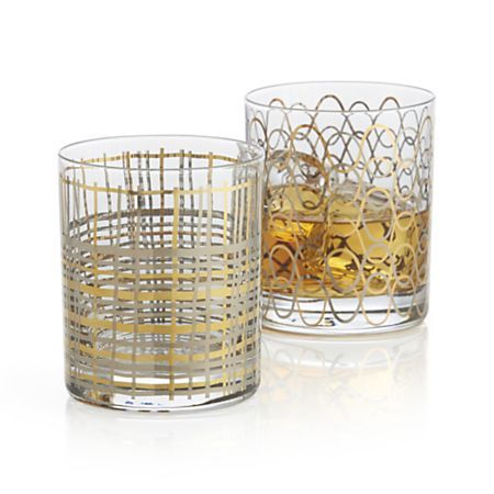 What a great pair the greet and mingle glasses would make any time of the year. @Crate and Barrel