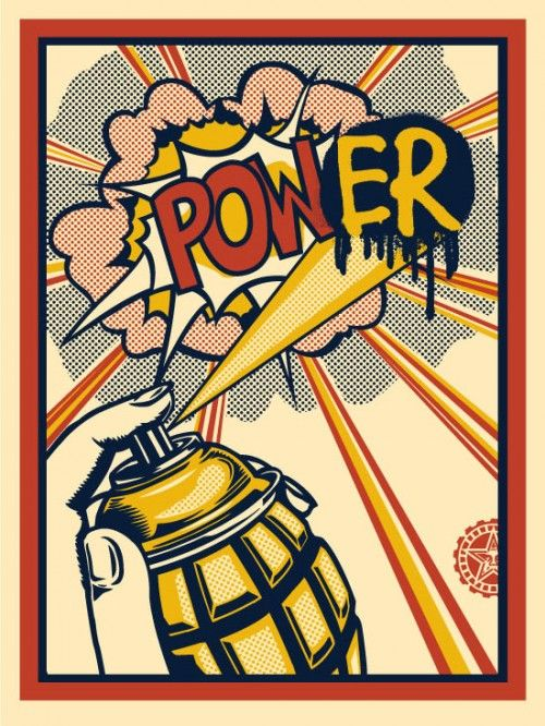 POW(ER), 2010 Screen print, signed and numbered. 18 x 24″ S, Edition of 450.