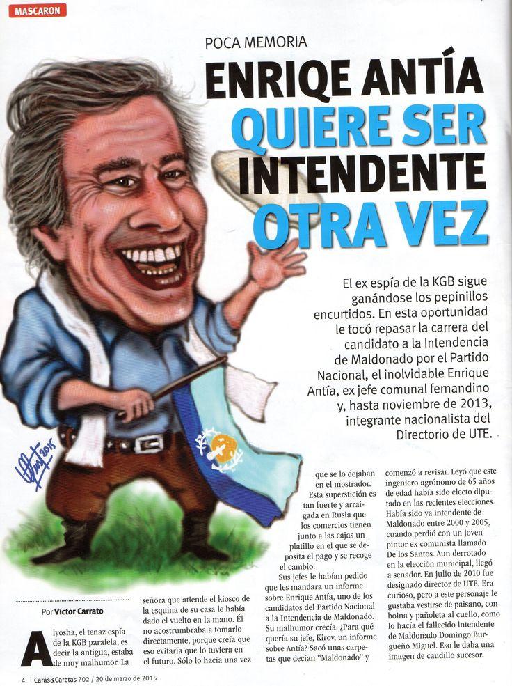 Caricatura de Enrique Antía para Revista CARAS & CARETAS
