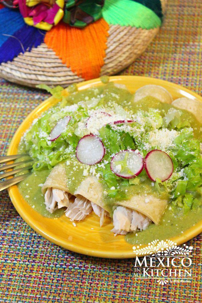 Creamy Roasted Poblano Peppers Enchiladas. #YUM ...