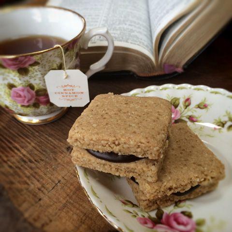 Raw čajové skořicové sušenky