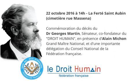 La Ferté Saint Aubin, une commémoration du centenaire du décès de Georges Martin sera conduite par Alain Michon, Grand Maître National,