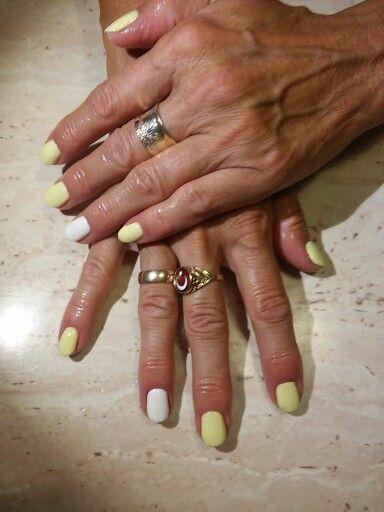 Semilac yellow white efekt syrenki