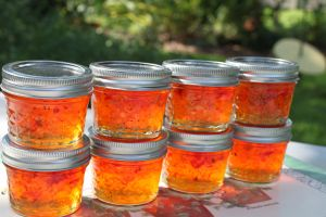 My sister-in-law Dana shared a bag full of yellow and red banana peppers with me, and I immediately thought of making pepper jelly. We love to eat it with cream cheese and crackers while watching T…