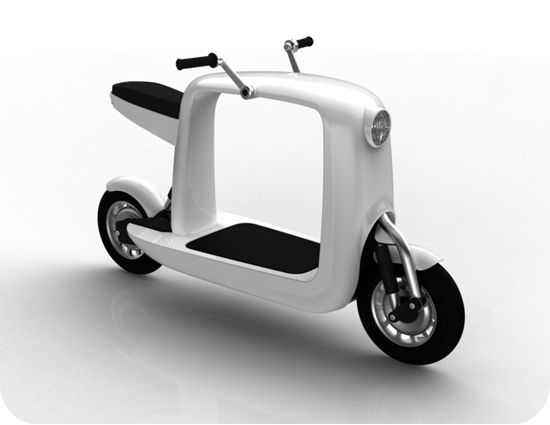 electric scooter design that makes a hole lot of sense. Black Bedroom Furniture Sets. Home Design Ideas