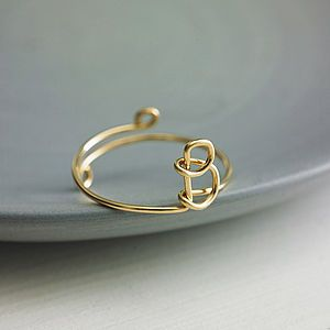 Gold Filled Initial Ring - rings