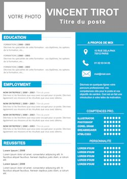 Exemple de CV Dynamique gratuit à télécharger