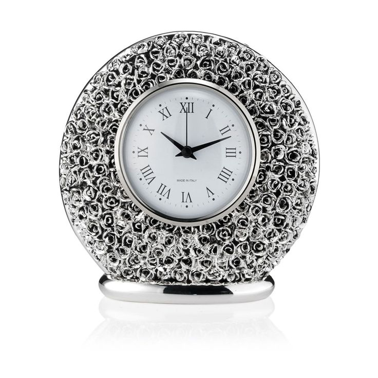 Orologio con motivi floreali, rose - Sovrani refined rose flowers clock