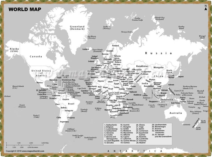 Black and white world map with country names is a product which gives it a very artistic and antique look #BlackandWhite #AntiqueLook #UniqueMap
