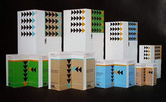 Vintage medicine packaging from the 1960s-1980s, most of which originate from the (out of print) 1984 publication Graphis Packaging 4.   Designed by: Gary Emery of Emery Vincent Associates for David Bull Laboratories