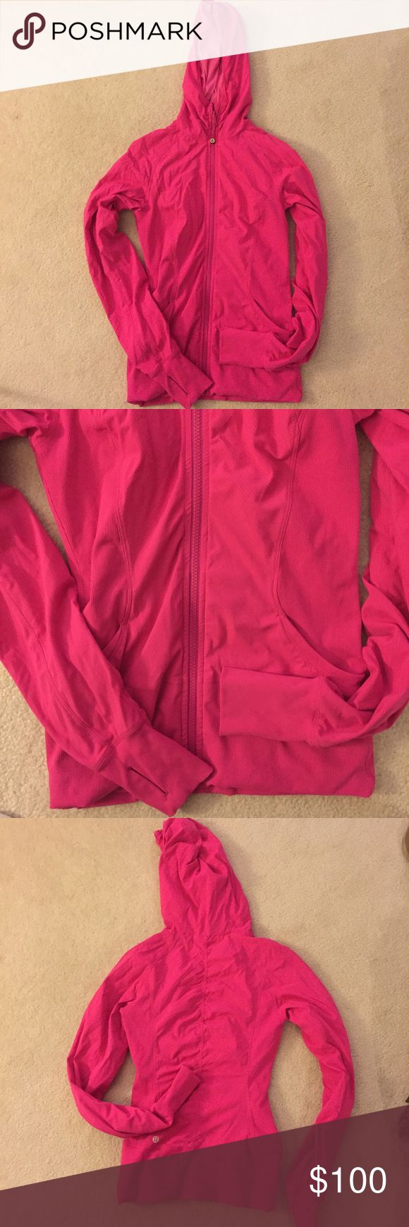 Lululemon Pink Zip Up Great condition! Worn twice. Just a bit too small for me! lululemon athletica Jackets & Coats