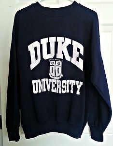 Duke University Sweatshirt ~ Go Blue Devils Mens Size L love love love