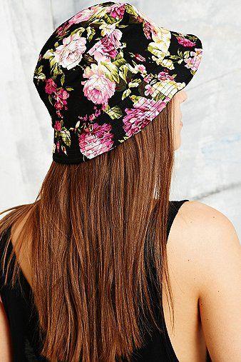 Reason Floral Bucket Hat in Black