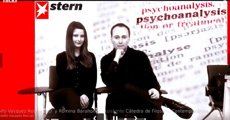 Adolfo Vásquez Rocca y  Romina Elizabeth Barahona. Asistente - Psicología Romina E. Barahona