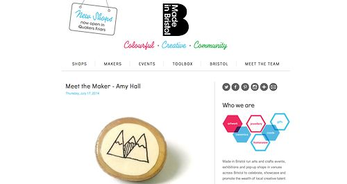 Made In Bristol blog feature.