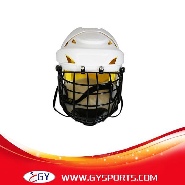 新しいsytle安全アイスホッケーヘルメット用プレーヤー高品質フェイスシールドマスクでケージ