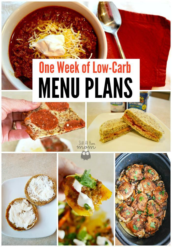 Get Started On Low-Carb, Menu Plan For A Week