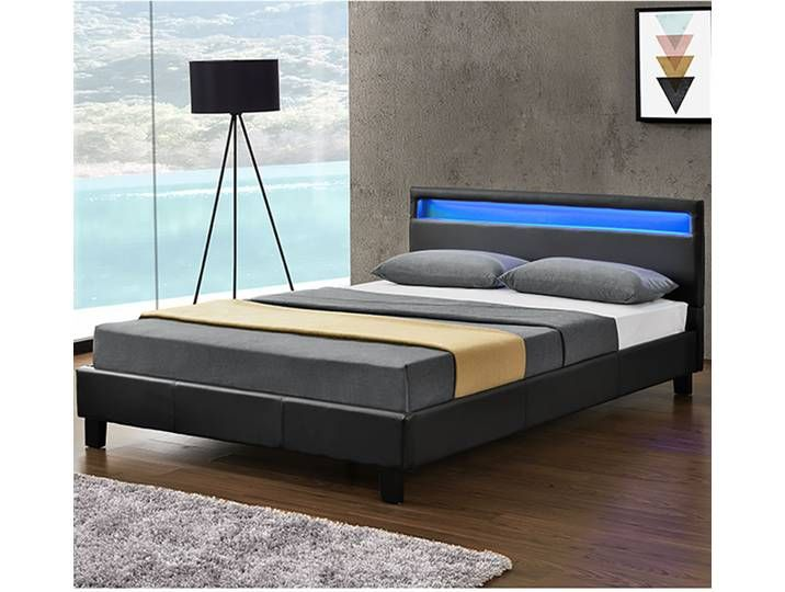 Artlife Polsterbett Verona 120 X 200 Cm Bett Mit Led Beleuchtung In Schwarz Bett Mit Bettkasten Bett Ideen Lederbett