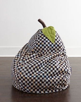 Courtly Check Bean Bag Chair by MacKenzie-Childs at Neiman Marcus.