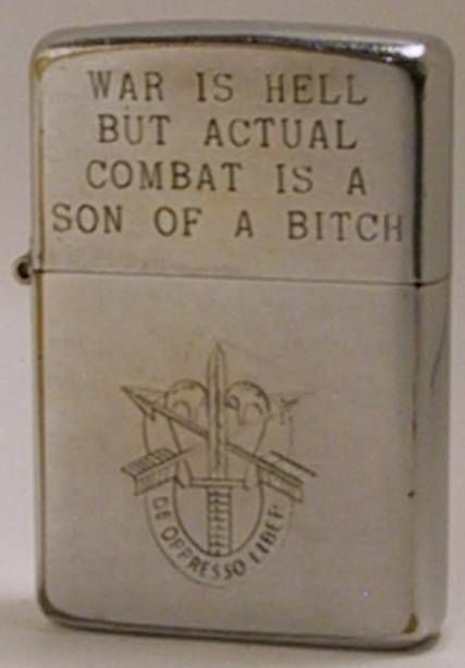 Engraved Zippo lighter of Special Forces soldier. LOVE IT!