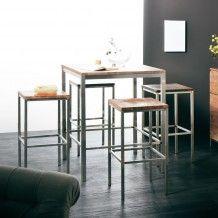 shessham bar table 90 x d 90 x h 100 nova by tikamoon