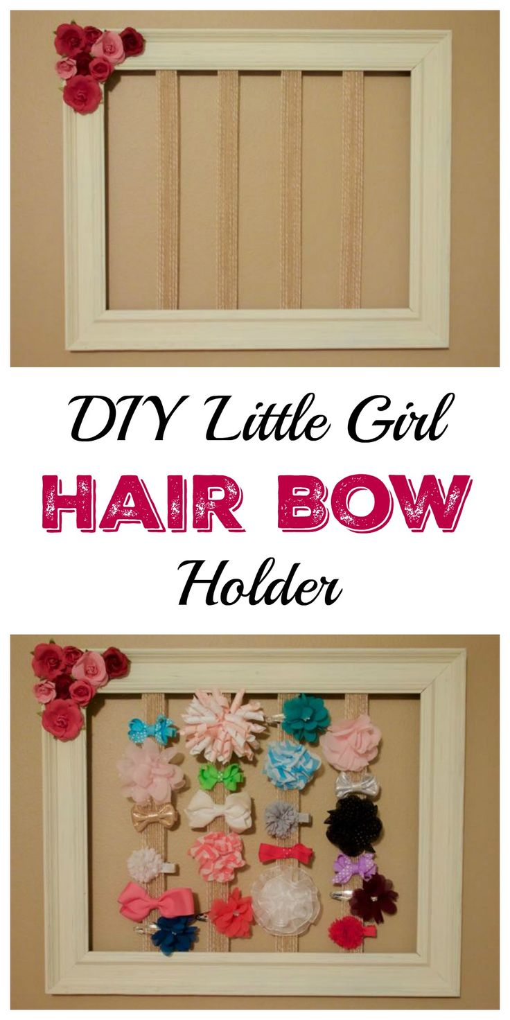 How to organize hair bows - Diy Little Girl Hair Bow Holder