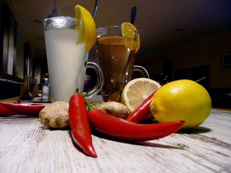 Horké nápoje z domácích sirupů v restauraci U Kaštanů Jarov http://www.ukastanu.cz/jarov.html
