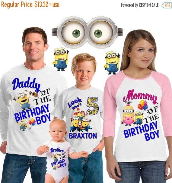 15% Off Minion birthday shirt / Minion shirt /family matching